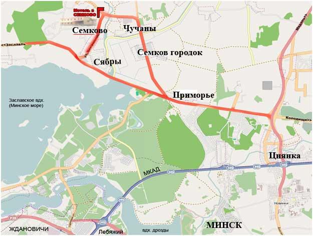 Схема проезда семково